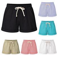 Womens Harem Elastic Waist Baggy Casual Shorts Pants Trousers Plus Size S-6XL