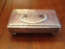 ANTIQUE DUTCH Table Trinket Box Solid 833 Silver ~ Hallmarks