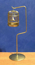 1/12 dolls house miniature Metal Bird / Budgie Cage on Stand Furniture Pet LGW