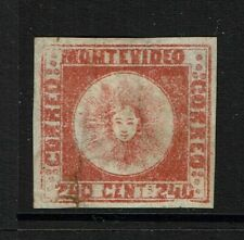 Uruguay SC# 6, Mint No Gum, ctr thin, Hinge Rems, repaired bottom tear - S12146