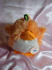 "Vintage Gund ZEE-BIRD 1980 Stuffed Animal Orange Plush 6"" Chubby Taiwan RARE"