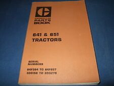 Cat Caterpillar 641 651 Tractor Parts Book Manual S/N 64F384-937 33G156-279