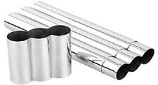 "Three Cigar Stainless Steel Triple 3 Cigars - 8""x50 Ring Cigar Tube"