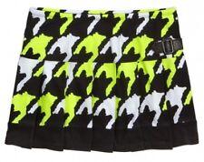 NWT Justice Girls Neon Green Houndstooth Pleated Skirt Skort U Pick! NEW