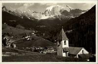 San Cipriano Italien Dolomiti Südtirol~1930/40 Totale mit Kirche col Catinaccio