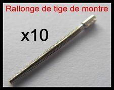 x10 rallonge de tige Ø0.70mm de montre quartz, mécanique, gousset