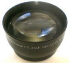 2.0X 2x Tele Telephoto Converter Lens Black for 58mm 58 mm thread