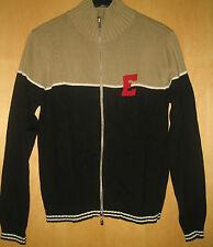 Esprit Weste Strickweste Strickjacke schwarz beige weiß rot Gr. S Baumwolle