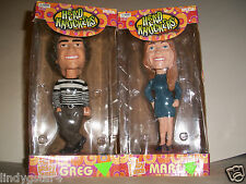BOBBLEHEAD 2 THE BRADY BUNCH MARCIA GREG HEAD KNOCKERS NECA VINTAGE 2 -4- 1