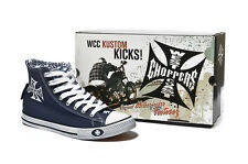 WEST COAST CHOPPERS KUSTOM KICKS NAVY SHOES! **BRAND NEW & IN STOCK**
