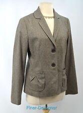 Banana Republic herringbone tweed blazer suit JACKET light coat SZ 10 M NWT $168