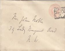 LONDON W./68.: 1891 Squared Circle cancel on House of Commons  envelope