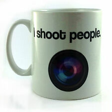 NEW I SHOOT PEOPLE GIFT MUG CUP PRESENT PHOTOGRAPHY CINEMATOGRAPHY CAMERA LENS