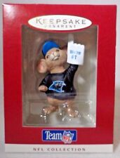 """1996 Hallmark Ornament Team NFL Carolina Panthers Mouse """"We're #1"""" NEW 3"""" Tall"""