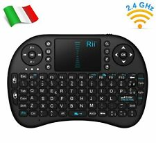 Rii Mini i8 Wireless - Tastiera e mouse touchpad per Smart TV, Mini PC e Console