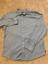 Armani Exchange Mens Light Blue Dress Shirt Regular Fit Size XL