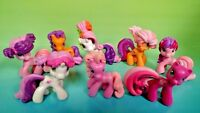 "8 G4 My Little Pony MLP Brushable 1"" Inch Rare Horse Bundle Mini Ponies Unicorn"