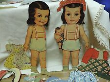 Antique Vintage Marilyn Lee and Judy Ann Michels Paper Doll Set