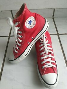 All Star Converse Schuhe Sneake Stiefel.40 Uk.7 rot