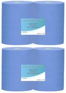 4 Rollen Putztuchrollen blau Putzpapier 3 lagig 36x38cm ☆ KFZ-Werkstatt-Tücher ☆