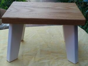 Handmade Oak,White Children StepStool, Kids Stool,Chair (Sturdy)Boys&Girls