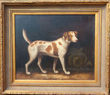 Terrier Hound Dog Original JOHN GRAY Signed Painting Oil On Canvas Hunting Art