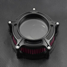 Clear Matte Air Cleaner Filter Red Element Fit For Harley Touring Trike 2008-16