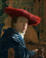 Johannes Vermeer Girl With A Red Hat Poster Reproduction Giclee Canvas Print