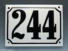 EMAILLE, EMAIL-HAUSNUMMER 244 in SCHWARZ/WEISS um 1960
