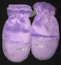 Little Girls size Xs soft furry purple Head brand Gloves Mittens thick warm Cute