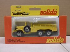Solido Toner Gam Yellow Transport Truck Dodge No.2007 Metal