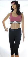 Victoria Secret PINK Ultimate Yoga Crop Capris Headband Sports Bra Lot L