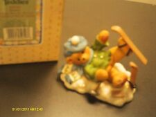 Cherished Teddies . Spencer - boy fallen down with skis- head over skis for you