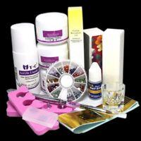 Manicure Basic Acrylic Nail Art Tips Kit Liquid Powder Glue Tool DIY NAIL ART