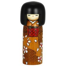 """Wooden Doll Kokeshi Kimono Girl 7.5""""H Sosaku By Masae Fujikawa /Made in Japan"""
