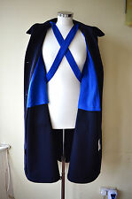 Vintage Edenhall Hospital black & blue nurse's cape ~ L ~ possibly WWI