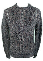 Scotch Soda Maison Scotch Womens Size M Blue Pink Wool Blend Sweater Long Sleeve