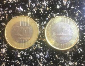 HUNGARY – BIMETAL 200 FORINT COIN CIRCULATED HUNGARIAN BI-METAL RARE