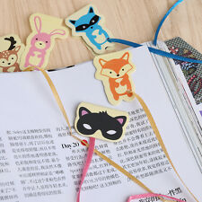 Cute Animals Long Tail Paper Magnetic Bookmark Book Mark Stationery Kids Gifts