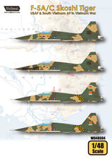 Wolfpack WD48004, F-5A/C Skoshi Tiger - USAF&South Viet (DECALS SET), SCALE 1/48