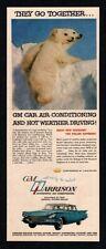 1959 GM HARRISON Air Conditioning - Cute Polar Bear Cubs - Retro VINTAGE AD