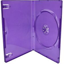 50 Single Standard Purple DVD Case 14 mm Spine Empty Replacement Cover HQ AAA