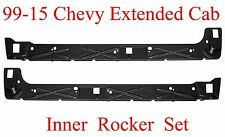 99 15 Chevy Extended Cab Inner Rocker Panel Set, GMC Truck 4 Door Quad Cab