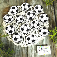 """12 Soccer Ball Pins 1.25"""" PIN BACK BUTTONS BADGES party favors gift pinback USA"""