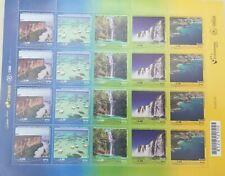 L) 2017 BRAZIL, WATERFALL, BEACH, NATURE, TOURISM, UPAEP, BLOCK OF 20 STAMP, MNH