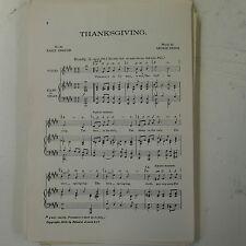 choral / vocal score THANKSGIVING george dyson UNISON