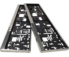 2 Design Kennzeichenhalter aus Edelstahl für Kfz Kennzeichen Maße von 520x110mm