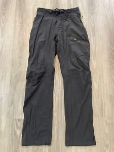 "Lululemon Mens Seawall Track Pants Unlined Soot Black Size Medium Inseam 34"""