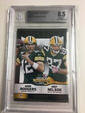 2014 Panini Contenders Touchdown Tandems Black 1/10 Aaron Rodgers Nelson BGS 8.5