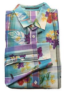 GUCCI Tropical Print Button Down Long Sleeve Dress Shirt Men's Slim Fit